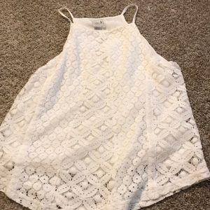 white dress tank